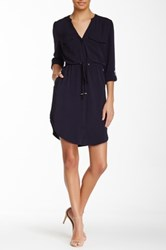 Blvd Long Sleeve Dress Blue