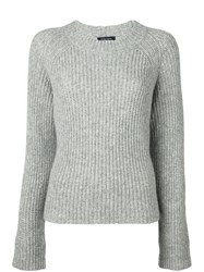 Roberto Collina Rib Knit Sweater Grey