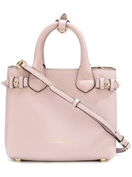 Burberry Square Tote Pink And Purple