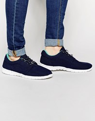 Bronx Minimal Sneakers In Black Blue