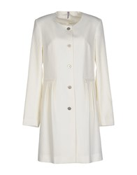 Scee By Twin Set Coats And Jackets Full Length Jackets Women Ivory