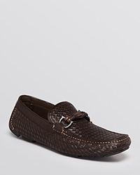 Salvatore Ferragamo Round Braided Bit Leather Driving Shoes T Moro