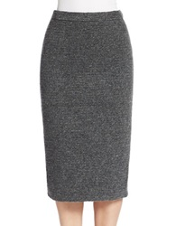 424 Fifth Blanket Knit Pencil Skirt Graphite Heather