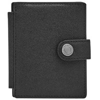 Reiss Cashie Leather Popper Wallet Black