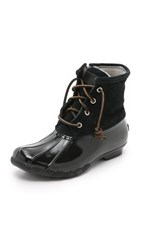 Sperry Saltwater Quilted Booties Black