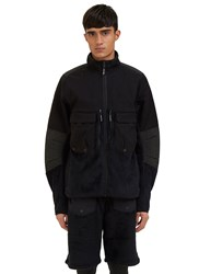 7L Fleece Layer Cargo Pocket Jacket Black