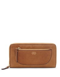 Vince Camuto Ayla Leather Zip Around Wallet Light Brown