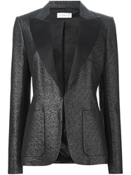 Faith Connexion Metallic Fitted Blazer Black