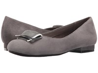 Aerosoles Good Times Dark Gray Suede Women's Flat Shoes
