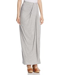 Three Dots Sammy Draped Maxi Skirt Gray