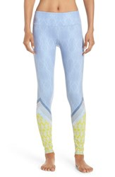 Alo Yoga Women's 'Airbrushed' Glossy Leggings Tree Lace Sky