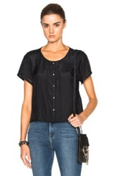 Frame Denim Victorian Top In Black