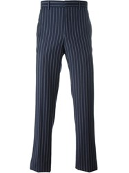 Givenchy Pinstripe Trousers Blue
