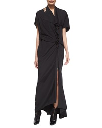 3.1 Phillip Lim Silk Ladder Back Embroidered Gown