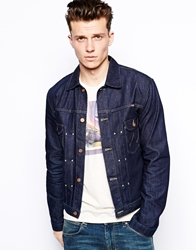 Wrangler Denim Jacket Pleated Box Fit Raw Cooljack