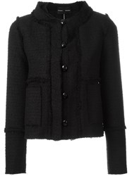 Proenza Schouler Frayed Boucle Jacket Black