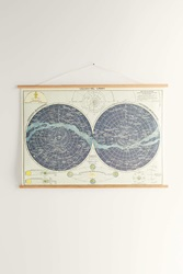 Urban Outfitters Hanging Celestial Chart Art Print Multi