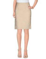 Brian Dales Skirts Knee Length Skirts Women Beige