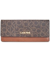 Calvin Klein Wallet Brown Khaki Luggage
