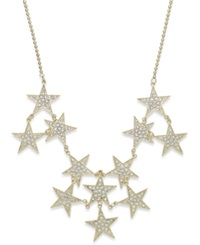 Bar Iii Gold Tone Pave Stars Statement Necklace