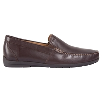 Geox Simon W Leather Moccasins Brown