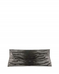 Vbh Manila Stretch Stingray Clutch Bag Silver