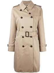 Mackintosh Double Breasted Mid Trenchcoat Nude Neutrals