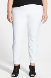 Eileen Fisher Crepe Ankle Pants Plus Size White