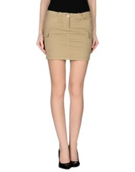 G.Sel Mini Skirts Beige