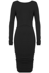 Alexandre Vauthier Jersey Dress With Cut Out Back Black