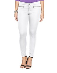 Lauren Ralph Lauren Plus Zip Pocket Skinny Pants White