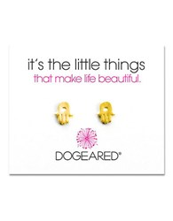 Dogeared Its The Little Things Hamsa Stud Earrings Gold