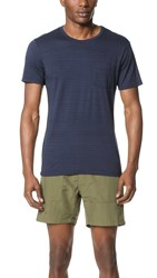 Splendid Mills Wave Stripe Tee Navy