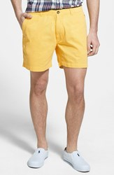 Men's Vintage 1946 'Snappers' Vintage Washed Elastic Waistband Shorts Lemon