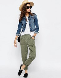 Asos Washed Casual Pants Khaki