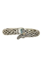 Phillip Gavriel 18K Yellow Gold And Sterling Silver Blue Topaz Dragonfly Bangle Multi