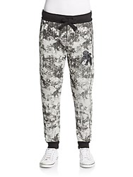 Prps Ophelia Printed Jogger Pants Heather Grey