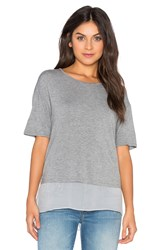 Heather Silk Lined Tee Gray