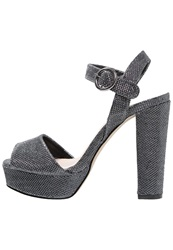Dorothy Perkins Shade High Heeled Sandals Pewter Silver