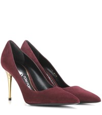 Tom Ford Suede Pumps Red