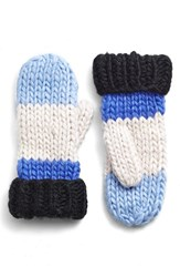 Kate Spade Women's New York Hand Knit Colorblock Mittens