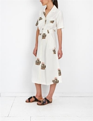 Creatures Of Comfort Misch Dress Flora White