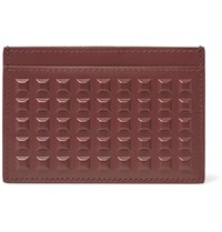 Balenciaga Studded Leather Cardholder Red