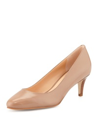 Cole Haan Lena Leather Mid Heel Pump Maple Sugar