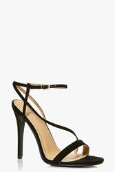 Boohoo Open Back Two Part Sandal Black