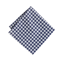 J.Crew Cotton Pocket Square In Gingham Classic Navy