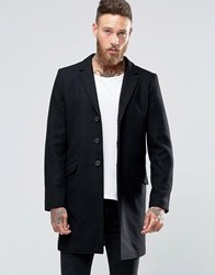 Only And Sons Overcoat Black