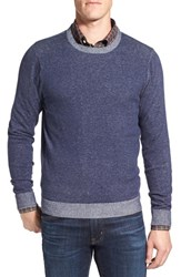 Nordstrom Men's Men's Shop Plaited Cotton Crewneck Sweater Navy Peacoat Combo