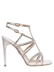 Paul Andrew 105Mm Ikaria Suede And Swarovski Sandals