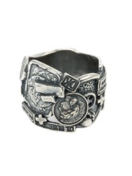 Tobias Wistisen Wide Mosaic Ring Metallic